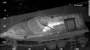 Boston Bomber seen by infrared camera